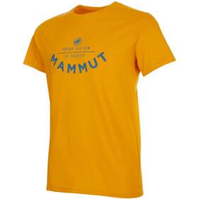 Mammut Seile T-Shirt Herre Golden PRT2
